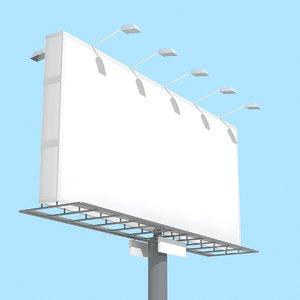 3d model road banner