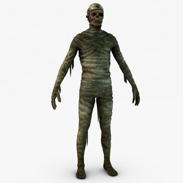 3d model mummy games uv