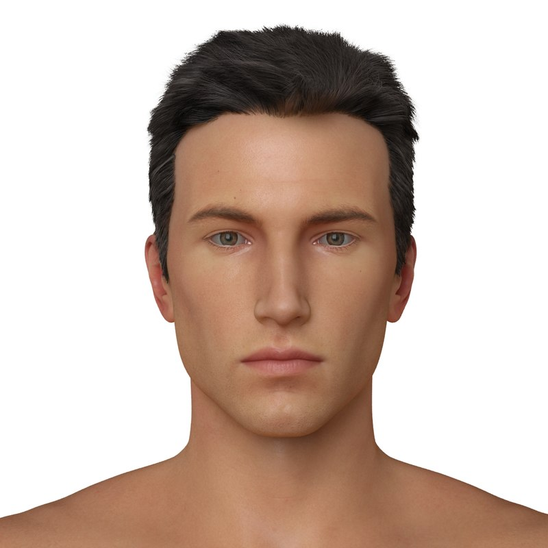 male character realistic 3d model