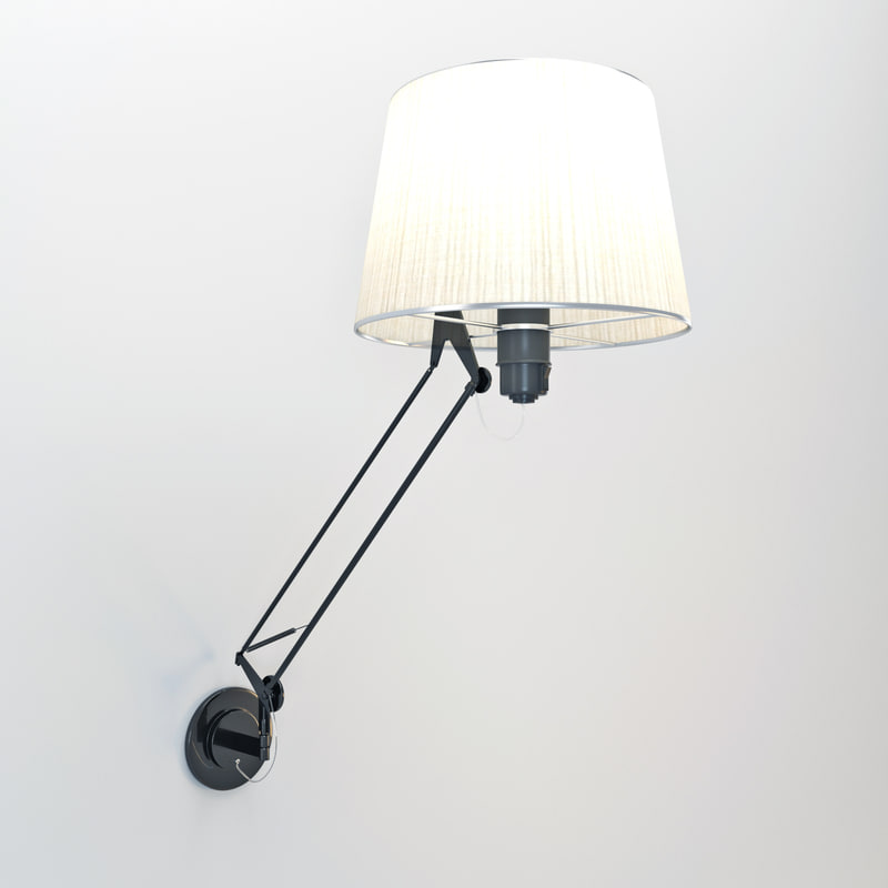 3ds max lektor wall lamp