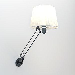 3ds max lektor wall lamp