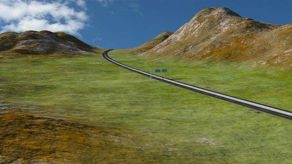 3d max terrain road