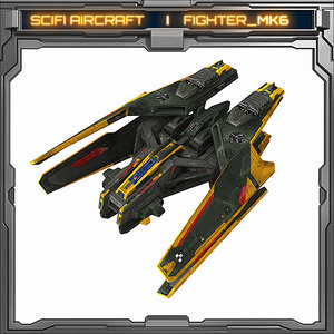 free spaceship fighter 3d model