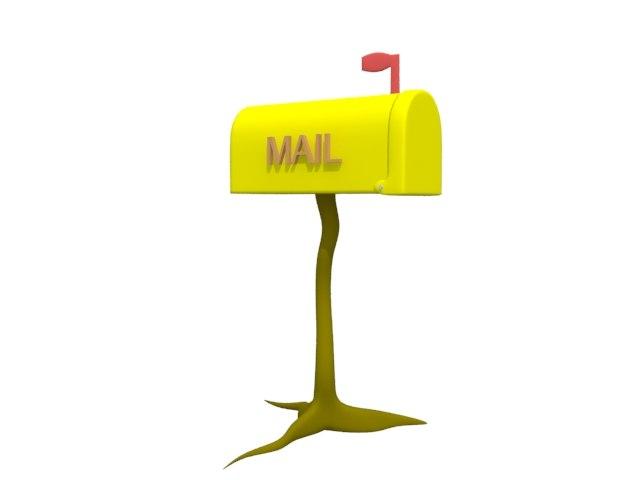 3d mailbox cartoonic