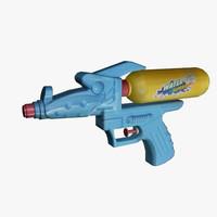 3d water gun model