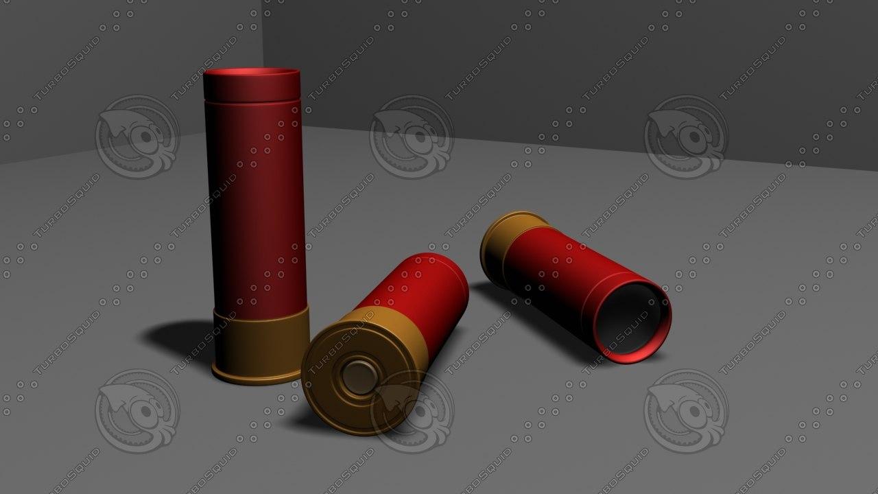 free 12cal ammo 3d model