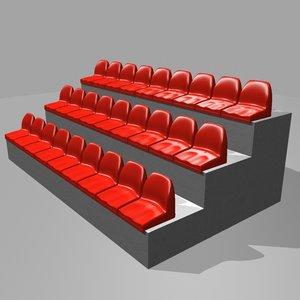 3d stadium seating model