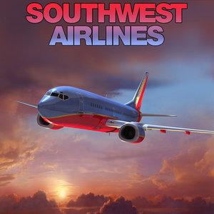 boeing 737 southwest airlines 3d model