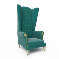 3d max armchair chair classic