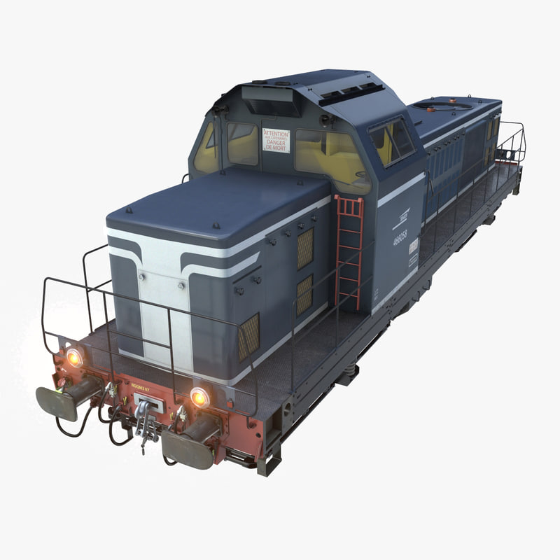 locomotive bb66000 3d model