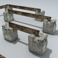 3d model temporary road barriers