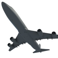 aircraft aerial scene air 3d model