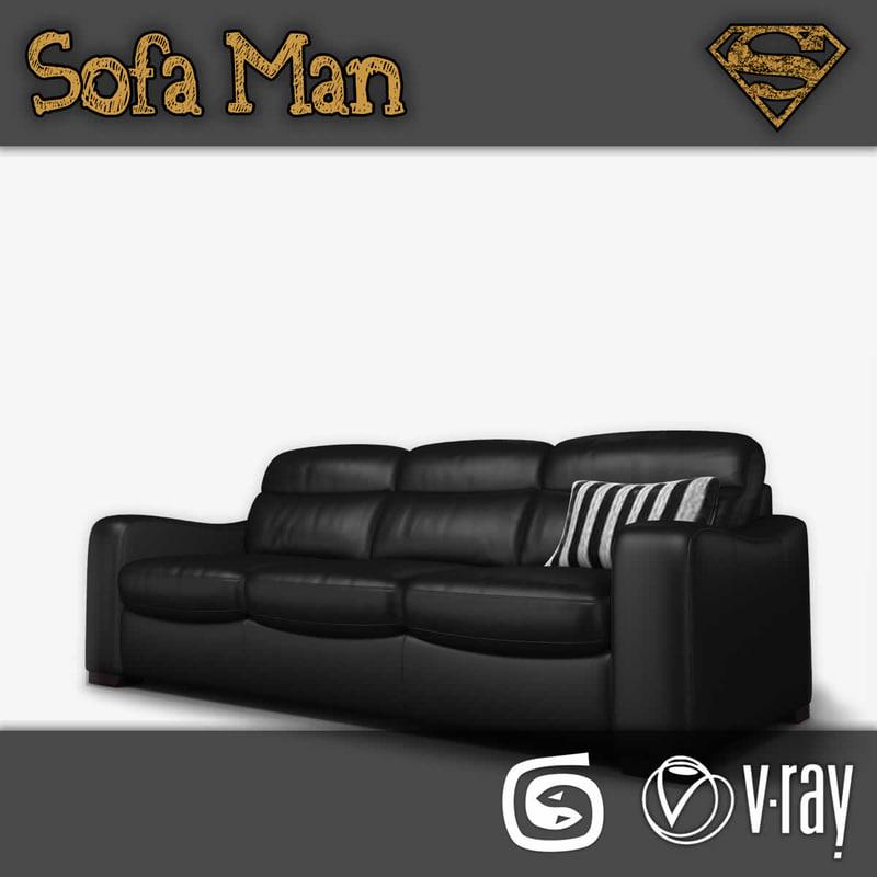 3d california sofa