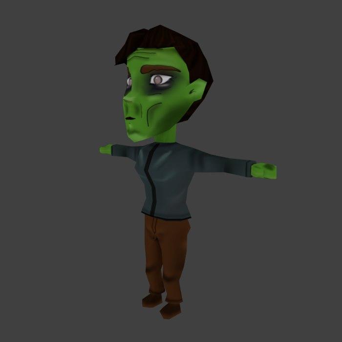 maya zombie cartoon