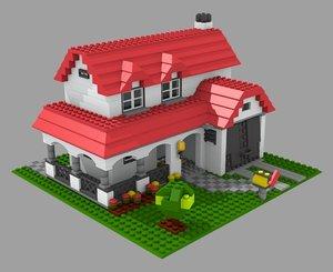 lego house 3d model