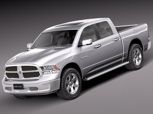 2012 2013 dodge pickup 3d model
