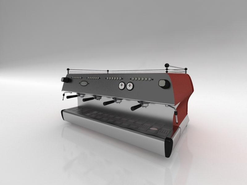 espresso machine 3d max