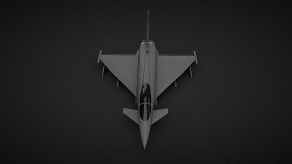 eurofighter typhoon 3d c4d