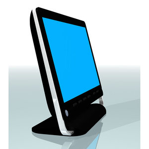 monitor hp touchsmart 3d c4d