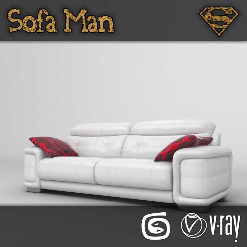 hawaii sofa 3d model