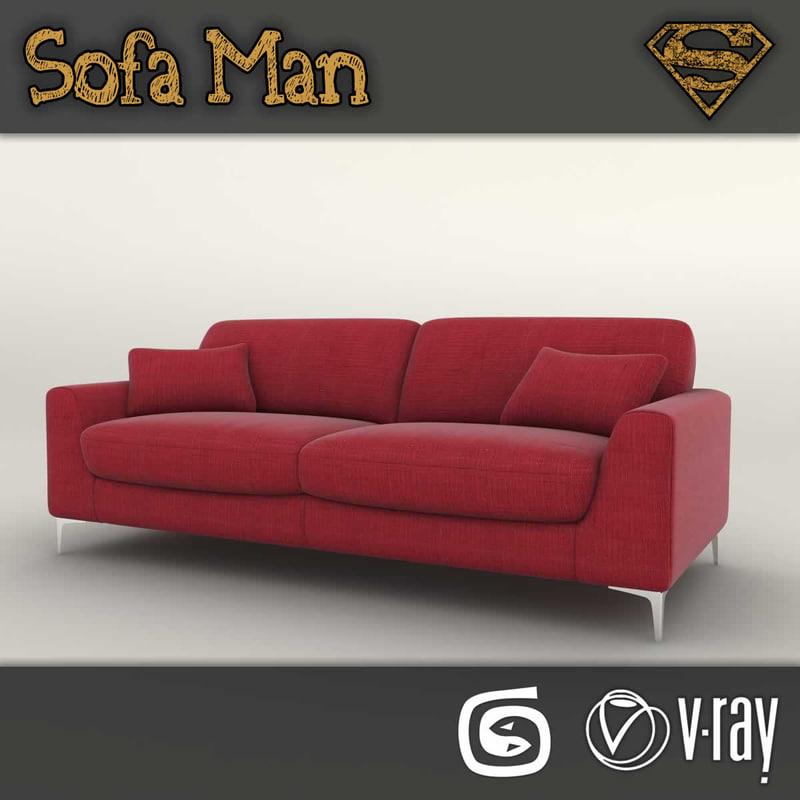 idaho sofa 3d max