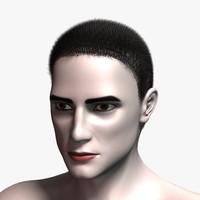 robert hair 3d model