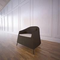 3d model kingstone outdoor chair