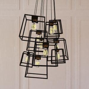 3d model large frame light cluster