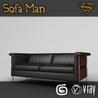 3d model louisiana sofa