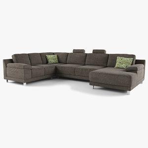 3d modern sectional sofa