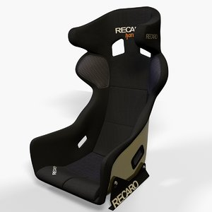 recaro pro racer racing seat 3d model