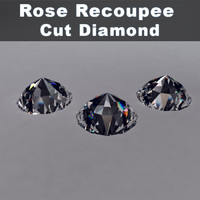 rose recoupee cut diamond 3ds