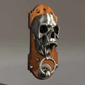 skull knocker 3d c4d
