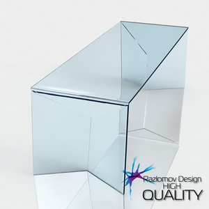 3ds max modern glass table edge