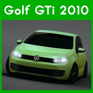 volkswagen golf 2010 3d model