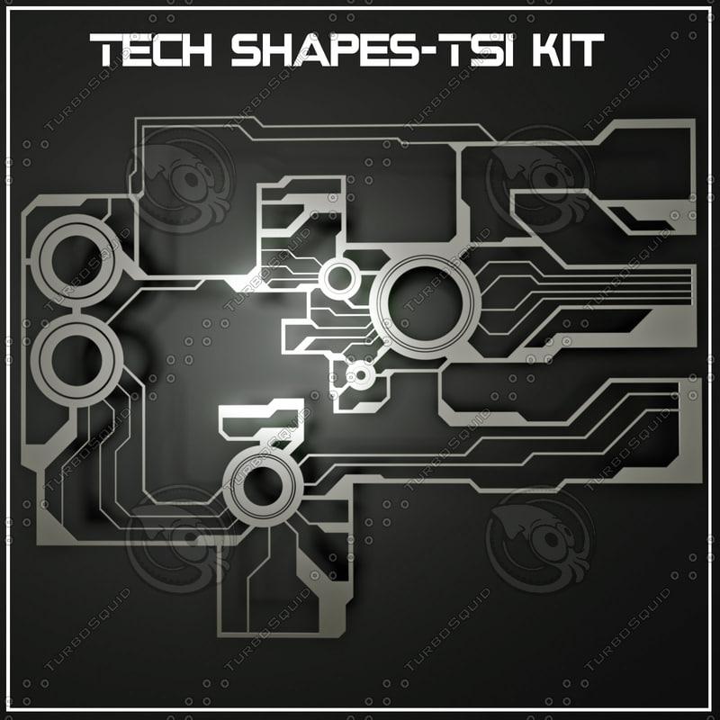 tech shapes-ts1 kit shapes 3d model