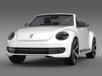 3d beetle cabrio 2013 model
