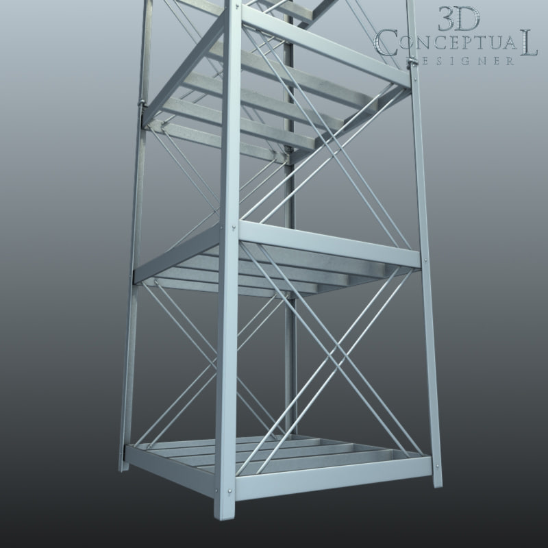 3d warehouse shelves