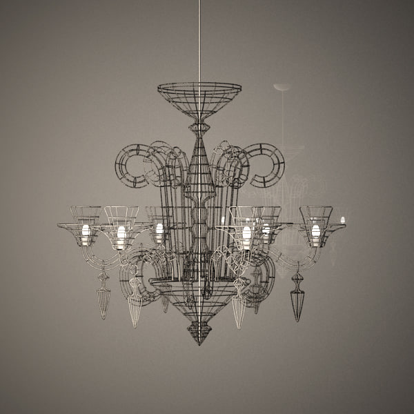 3d max wire chandelier atelier abigail aloadofball Image collections