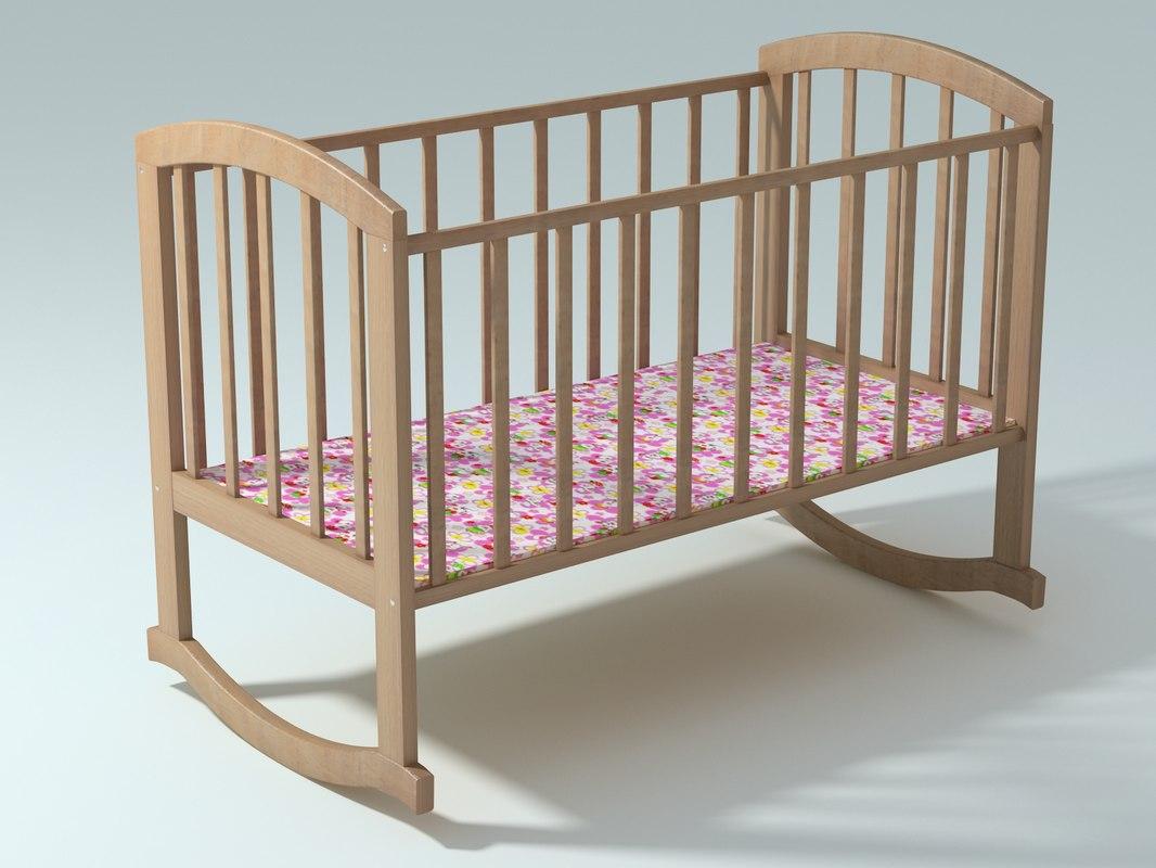 bed baby 3d model