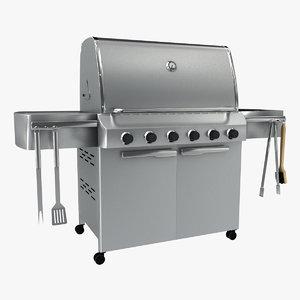 barbeque utensils 3d max