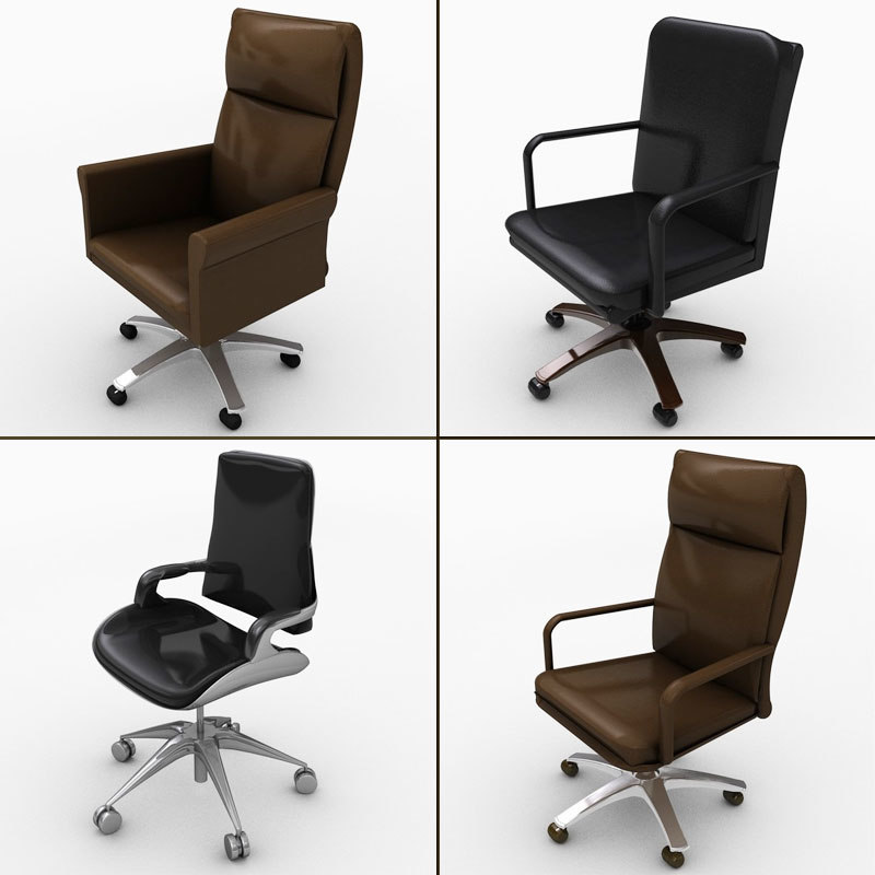c4d office chair