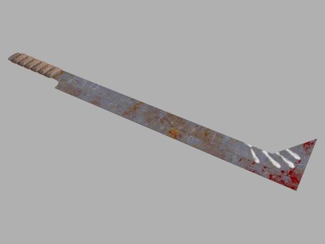 3d uruk-hai sword model