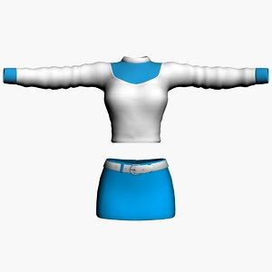 winter sweater skirt 3d model