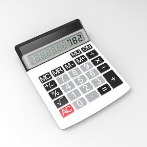 electronic calculator 3d model