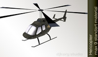 3d helicopter copter model
