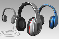 headphones modeled 3d obj