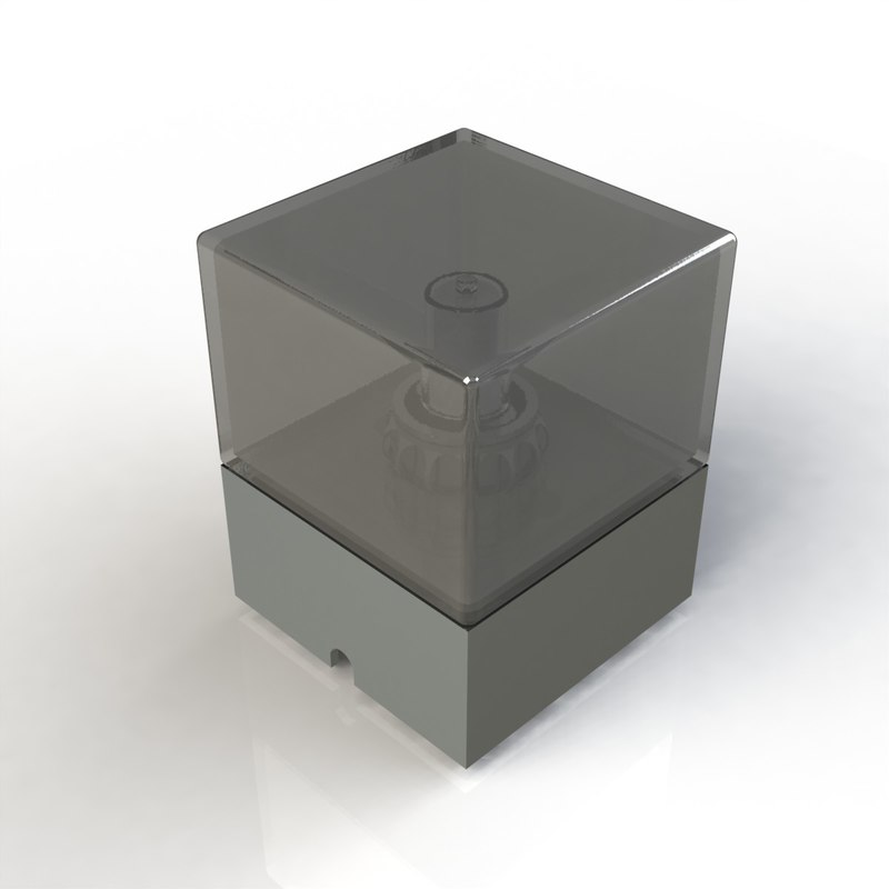 3d model light square
