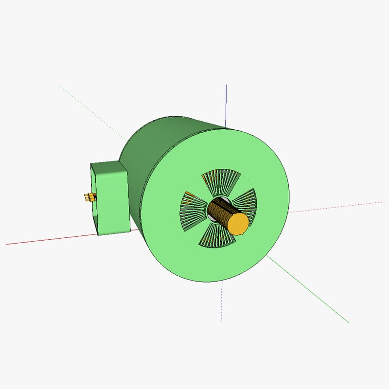 rotor induction motor 3d model