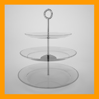 3d serving platter model